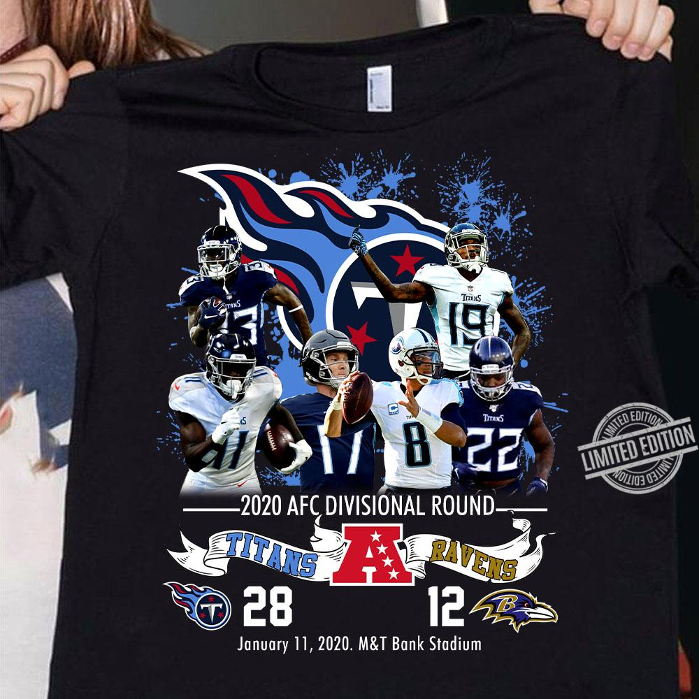 2020 AFC Divisional Round Titans And Ravens Shirt