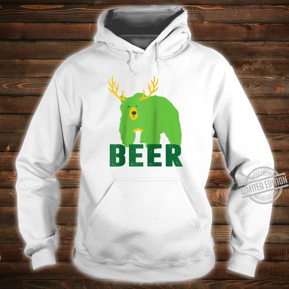 Lucky Green Beer Bear Deer St Patricks Day Outdoors Shirt hoodie
