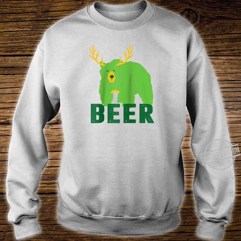 Lucky Green Beer Bear Deer St Patricks Day Outdoors Shirt sweater