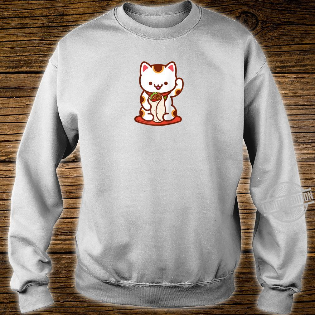 Manekineko Burrito Lucky Japanese Cat Anime, Kawaii Shirt sweater