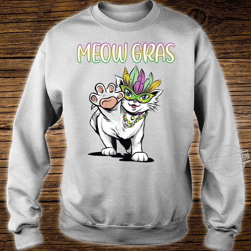 Mardi Gras Cat Shirt sweater
