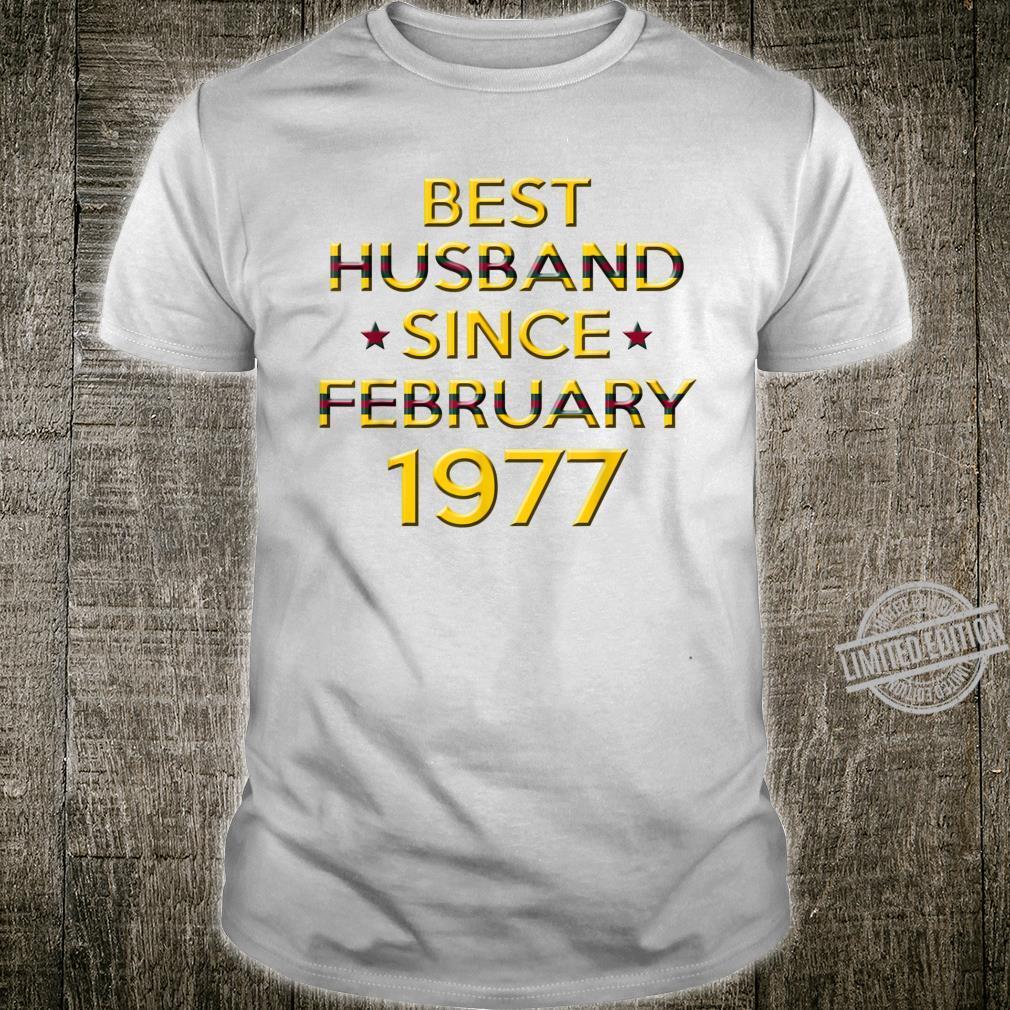 Mens 43rd Wedding Anniversary Husband Since February 1977 Shirt