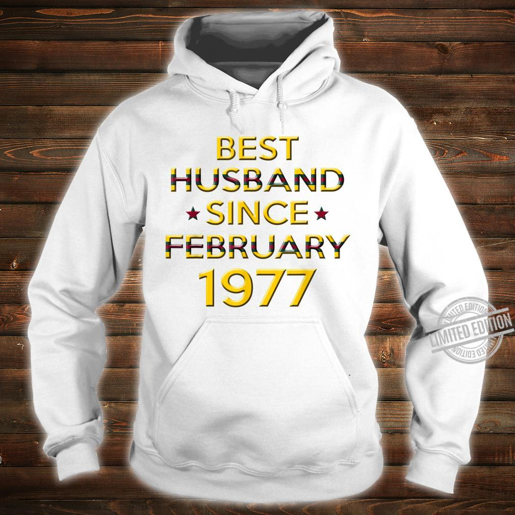 Mens 43rd Wedding Anniversary Husband Since February 1977 Shirt hoodie