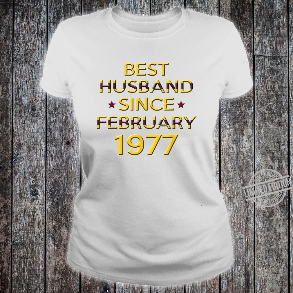 Mens 43rd Wedding Anniversary Husband Since February 1977 Shirt ladies tee