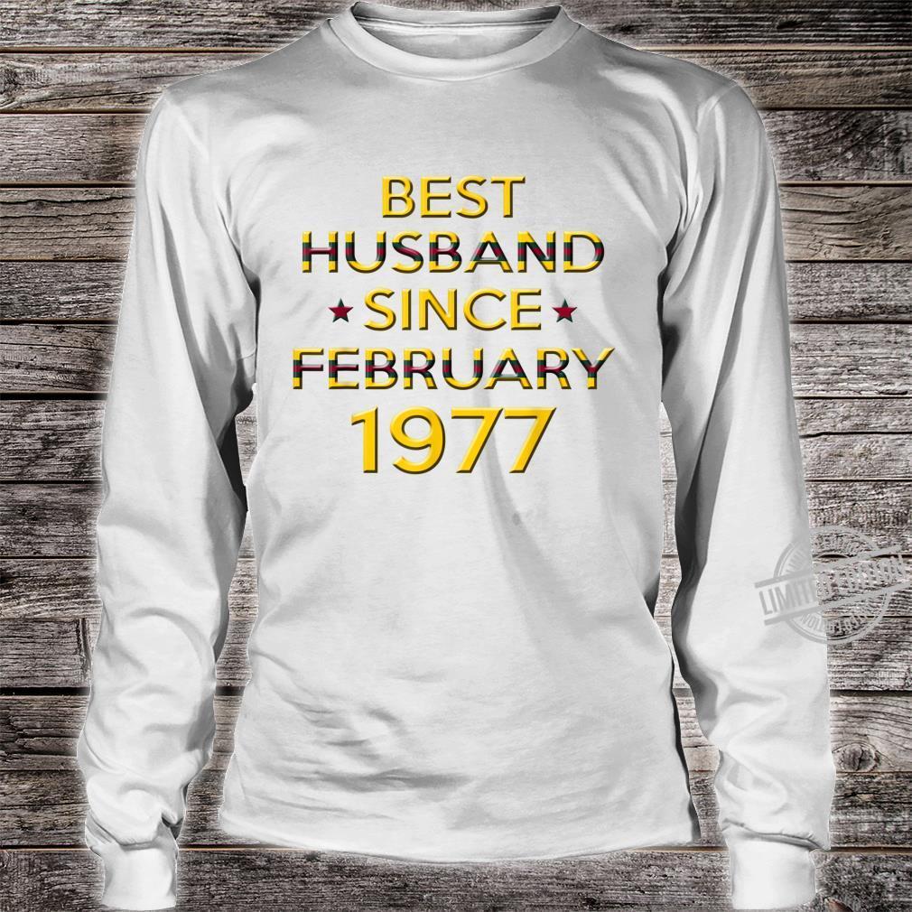 Mens 43rd Wedding Anniversary Husband Since February 1977 Shirt long sleeved