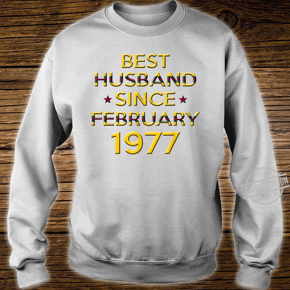 Mens 43rd Wedding Anniversary Husband Since February 1977 Shirt sweater