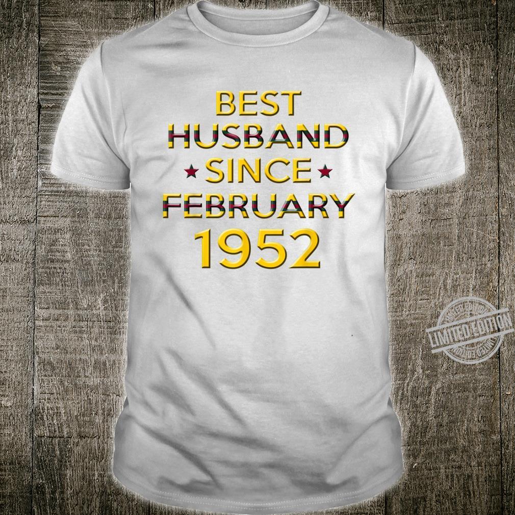 Mens 68th Wedding Anniversary Husband Since February 1952 Shirt