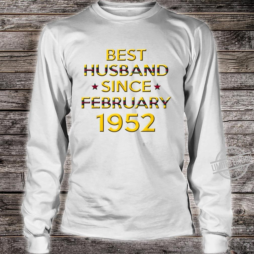 Mens 68th Wedding Anniversary Husband Since February 1952 Shirt long sleeved